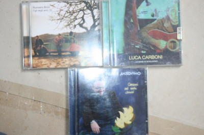 Vand 3 CD-uri originale MUZICA ITALIANA foto