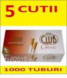 5 x TUBURI CLUB CLASSIC 1000 tuburi, filtre tigari , pentru injectat tutun