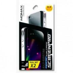 Folie protectie ecran iPhone 4S/4G |fata+spate|Clear Momax - Folie de protectie