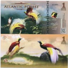ATLANTIC FOREST- 1 AVES DOLLAR- 2016- UNC!! - bancnota america