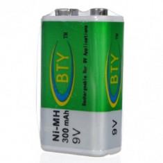Baterii reincarcabile 9v, 300mah NI-MH, 6F22