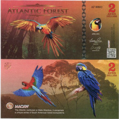 ATLANTIC FOREST- 2 AVES DOLLARS 2016- UNC!! - bancnota america
