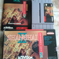 Jocuri SNES, super nintendo, NTSC, USA, colectie vintage, SHANGAI 2 DRAGONS EYE Activision, Board games, Toate varstele, Single player