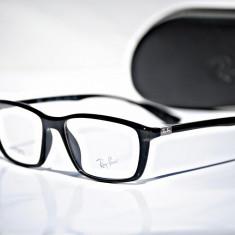 Rame de ochelari de vedere Ray Ban RB 7018 2000 Liteforce - Rama ochelari Ray Ban, Barbati, Negru, Dreptunghiulare, Plastic, Rama intreaga