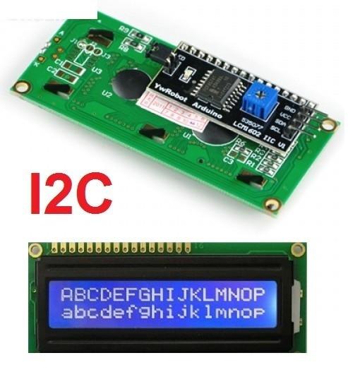 LCD 1602 cu Interfata I2C si Backlight Albastru