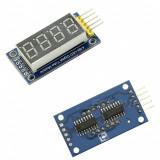 Afisaj modul display LED 4 digiti cu interfata seriala chip TM1637