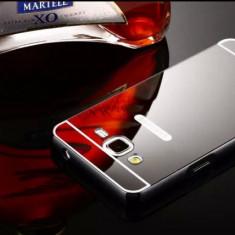 Bumper Samsung Galaxy Grand Prime G530H Aluminiu + Capac Mirror Black