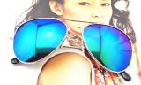 Ochelari de Soare Unisex Aviator Oglinda Mirror UV Protection SUMMER 2018, Protectie UV 100%, Rotunzi