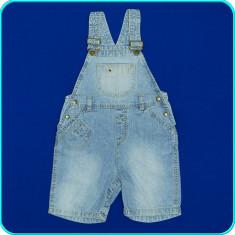DE FIRMA → Pantaloni blugi-salopeta, practici, calitate H&M → 12-18 luni | 80-86, Marime: Alta, Culoare: Bleu, Unisex