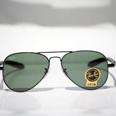 Ochelari de soare Ray Ban Aviator RB8307 001 brat carbon, Unisex, Verde, Protectie UV 100%, Metal