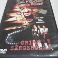 FILM HORROR SCREAM BLOODY MURDER-CRIME SANGEROASE, SUBTITRARE ROMANA, ORIGINAL - Film SF, DVD