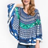 Bluza oversize - Lady M - art 21600 multicolor