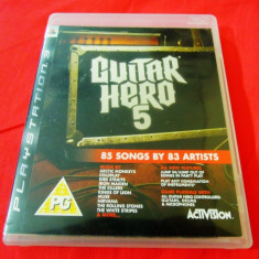 Joc Guitar Hero 5, PS3, original, alte sute de jocuri! - Jocuri PS3 Activision, Simulatoare, 12+, Single player