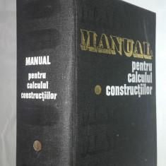 ANDREI D.CARACOSTEA - MANUAL PENTRU CALCULUL CONSTRUCTIILOR