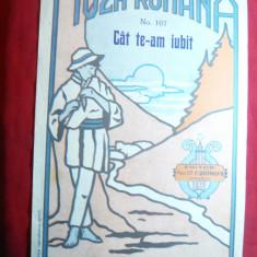 Partitura Romanta Populara -Cat te-am iubit -Ed.C.Sotropa Cernauti-Muza Romana