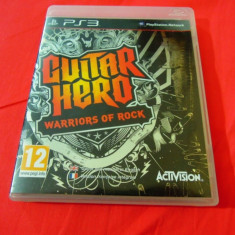 Joc Guitar Hero Warriors of Rock, PS3, original, alte sute de jocuri!, Simulatoare, 12+, Single player, Activision