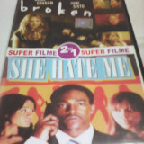 FILM DVD SUPER FILME 2 IN 1 BROKEN/SHE HATE ME, SUBTITRARE ROMANA, ORIGINAL - Film actiune