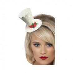 Mini Palarie White Christmas - Carnaval24