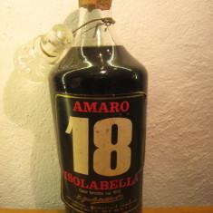 Decanter, amaro 18 isolabella, italy, cc 750, gr 30 ani 1960 - Lichior