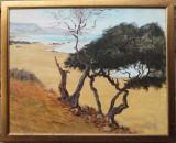 Copaci la malul marii - semnat  Jacques Huydts, Peisaje, Ulei, Altul