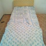 Vand Pat + Perina + Lenjerie gratis pentru o 1 persoana lungime 2m 200cm - Pat dormitor, Simplu