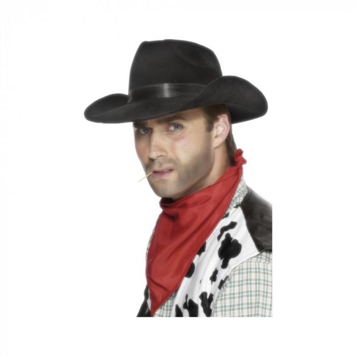 Palarie Cowboy neagra - Carnaval24