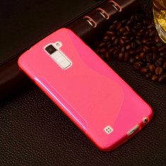 Husa LG K10 K430 TPU S-LINE Pink - Husa Telefon LG, Roz, Gel TPU, Fara snur, Carcasa