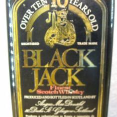 Whisky black jack, 10 years, finest scotch whisky, cl.75 gr.40 ani 60