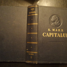 KARL MARX - CAPITALUL - VOL. I