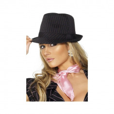 Palarie Gangster neagra/roz - Carnaval24