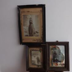 Fotografii vechi(3 buc.)cu o familie din Transilvania. - Fotografie, Alb-Negru, Etnografie, Romania 1900 - 1950