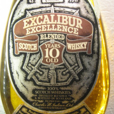 Whisky excalibur exelence, blended scotch whisky, 10 years, cl.75 gr.43 ani 60