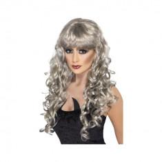 Peruca Siren Argintie - Carnaval24