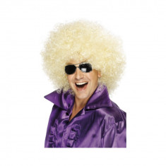 Peruca Afro Uriasa blonda - Carnaval24