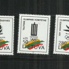 S 24 - SPORT - LITUANIA - SERIE NESTAMPILATA - Timbre straine