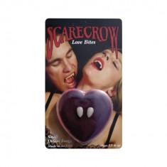 Colti vampir Scarecrow Deluxe Love Bites cu kit de fixare - Carnaval24 - Costum petrecere copii
