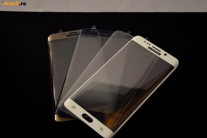 Folie sticla Samsung Galaxy Note Edge N9150  tempered glass curbata aurie