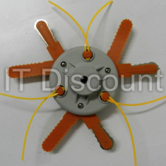 Tambur motocoasa special 10mm cu 6 cutite 3 metal + 3 plastic + 3 fire 2.4mm