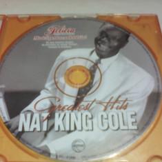 CD NAT KING COLE-GREATEST HITS ORIGINAL FARA COPERTA - Muzica Jazz