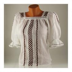 Ie traditionala, marime 42, alb/maro - Carnaval24 - Costum carnaval
