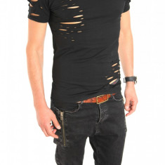 Tricou tip ZARA - tricou barbati - tricou slim fit - tricou fashion - 6399, Marime: S, M, XL, Culoare: Din imagine, Maneca scurta