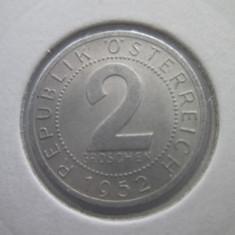 Austria   2 groschen   1952, Europa, Bronz