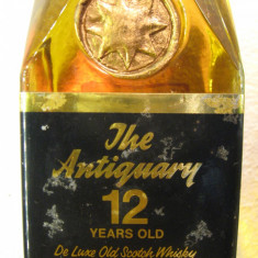 whisky the antiquary, 12 years, de kluxe old scotch whisky cl.75 gr.43,3 ani 60
