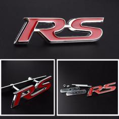 Emblema RS pentru masina auto audi metal sistem prindere metalic inclus - Embleme auto, Universal