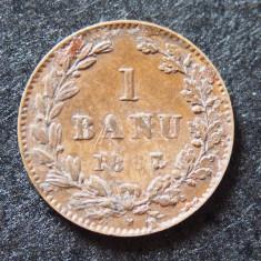 Romania 1 banu 1867 H - matrita umpluta la 6 - Moneda Romania