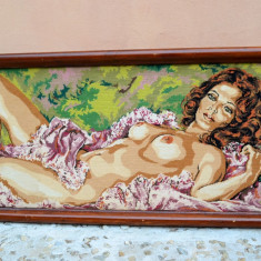 ABSOLUT SUPERB - GOBLEN INRAMAT, FEMEIE NUD - Tapiterie Goblen
