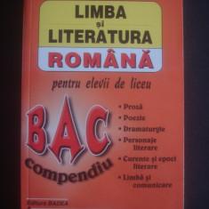 MARIANA BADEA - LIMBA SI LITERATURA ROMANA pentru elevii de liceu