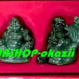 Set 6 buddha din imitatie de jad