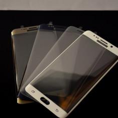Folie sticla Samsung Galaxy S6 edge plus tempered glass curbata neagra - Folie de protectie