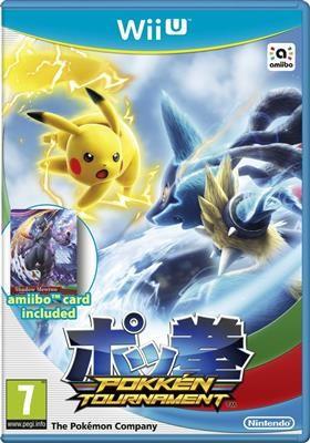 Pokken Tournament With Shadow Mewtwo Amiibo Card Nintendo Wii U foto